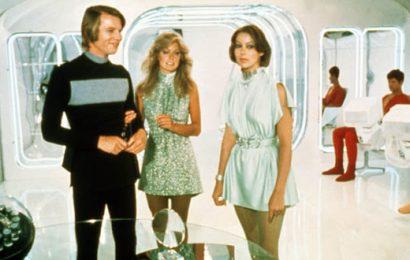 LOGAN'S RUN, Michael York, Farrah Fawcett, Jenny Agutter, 1976